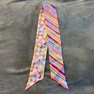 Coach Multicolor Silk Scarf